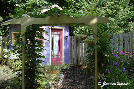 Garden house built from recycled doors and windows | Upcycled Garden Style | Scoop.it