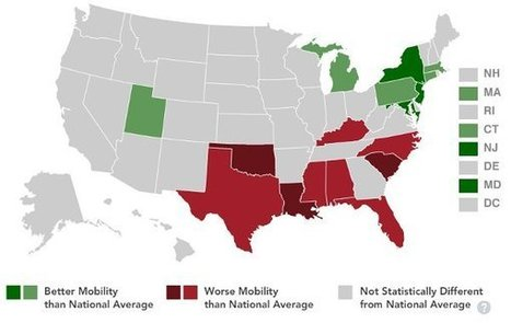 Why Some States Are More Economically Mobile Than Others | green infographics | Scoop.it