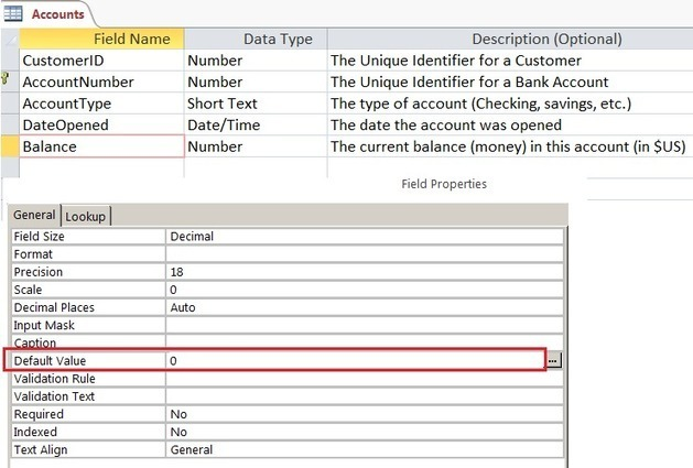 Advanced database table design in ms access 201 for Table design ms access
