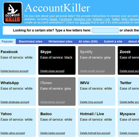 AccountKiller: instructions for deleting more than 500 online accounts -   Digital-News on Scoop.it today   Scoop.it