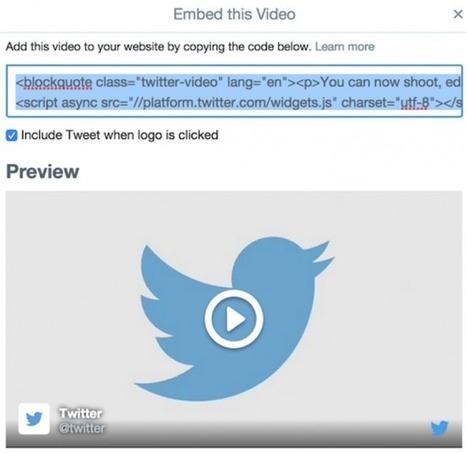 Conoce cómo insertar videos publicados en Twitter | Herramientas TIC para el aula | Scoop.it