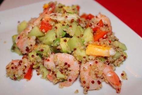 Recettes Faciles & Rapides: Salade de quinoa aux crevettes | Recipes from the world on Scoop! | Scoop.it