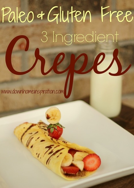 Paleo and Gluten Free 3 Ingredient Crepes | Nutrition & Recipes | Scoop.it