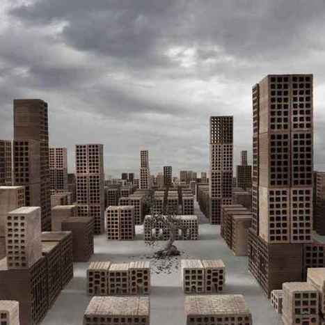 #Miniature #city made out of #bricks by Matteo Mezzadri. #art #sculpture | Luby Art | Scoop.it
