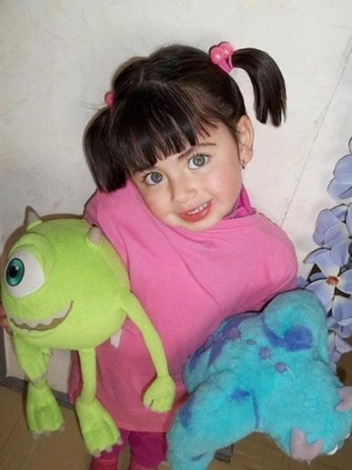 real life boo is scary cute boo monsters inc costume scoopit