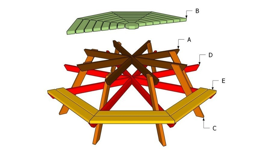 How To Build An Octagon Picnic Table Howtospe
