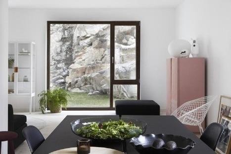 Visite déco : Monochrome & rose pastel en Suède | décoration & déco | Scoop.it