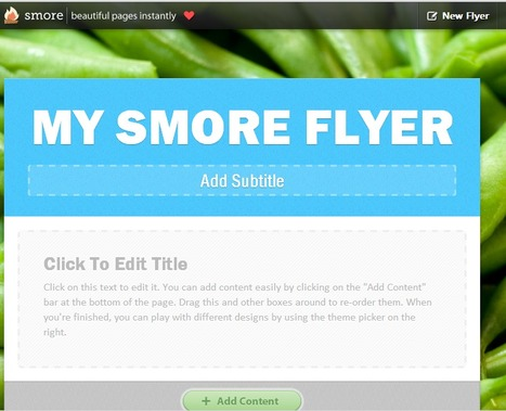 Smore; another great tool : A Journey in TEFL via @evab2001 | Digital story telling in  EFL classes. | Scoop.it