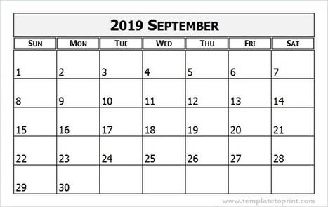 calendar 2019 september