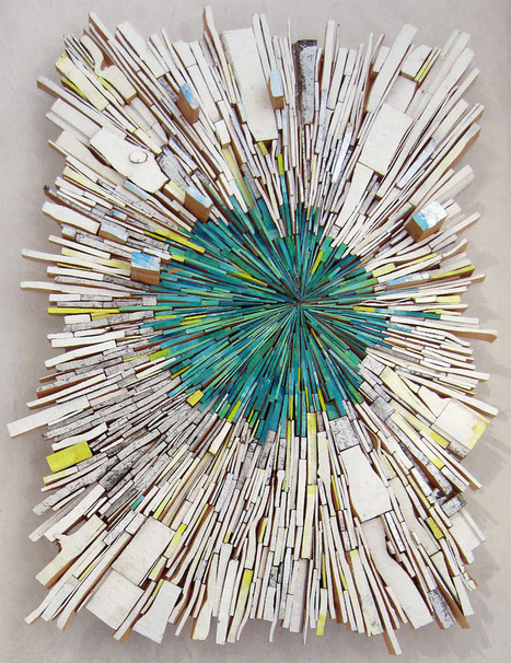 Artist Uses #Wood #Scraps to Visualize a Dynamic #Explosion of #Colour and #Shapes. #art #sculpture | Luby Art | Scoop.it