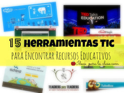 15 Herramientas Tic para Encontrar Recursos Educativos.  ¡Recomendado! | SYLVIE MERCIER | Scoop.it