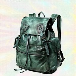 Moto distressed leather backpack for women Ancient green - $398.00 : Notlie handbags, Original design messenger bags and backpack etc | Womens fashion | Scoop.it