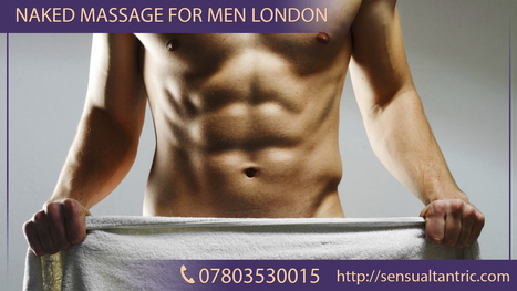 Muscular man getting and erotic massage