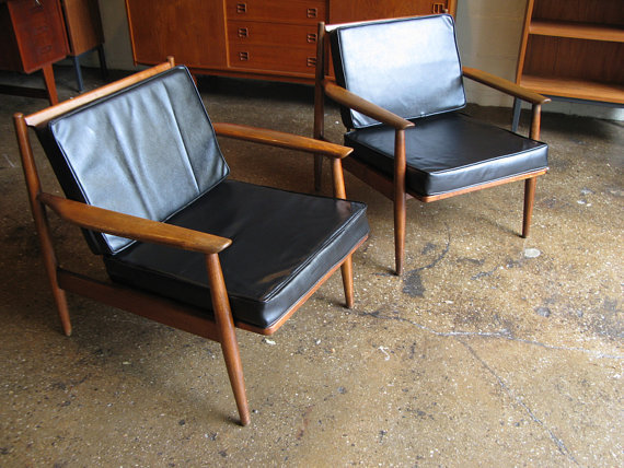 Magnificent Mid Century Modern Walnut Arm Chairs By Openair Machost Co Dining Chair Design Ideas Machostcouk