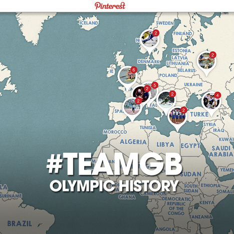 Team GB launch interactive Pinterest Map showing history at the Olympic Games | Pinterest | Scoop.it