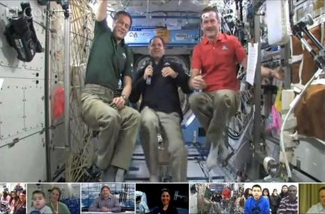 NASA's spacey Google+ Hangout shows off zero-G antics – and cats! | Google Plus for learning | Scoop.it