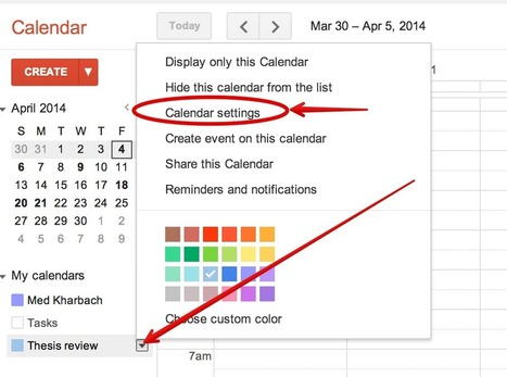 Teachers' Visual Guide to Using Google Calendar | Educación | Scoop.it