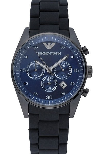 9ae8e7489c8 Buy Replica Emporio Armani Sportivo Chronograph Blue Dial Mens Watch