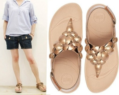 ff477d52bab5a1 Have a Wonderful Day with Fitflop Fleur Backstrap Pale Bronze Sandals