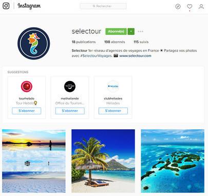 Selectour se lance sur Instagram | Voyages et Tourisme | Scoop.it