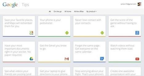 Google lance Google Tips, un site pour vous aider à utiliser ses services   Made Different   Scoop.it