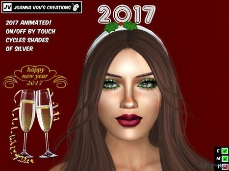 Happy New Year 2017 Headband 1L Promo Gift by Joanna Vou's Creations | Teleport Hub - Second Life Freebies | Second Life Freebies | Scoop.it
