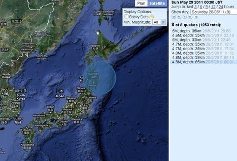 [Séismes] Journée particulièrement agitée au large du Japon | Japan Quake Map | Japon : séisme, tsunami & conséquences | Scoop.it