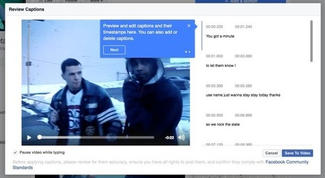 Facebook adds automatic subtitling for Page videos | Geeks | Scoop.it