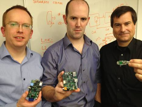 Thought you Pi fans might like to see this. It's three of the guys behind the Pi holding devices in various stages of development (exclusive photo). - Imgur | Raspberry Pi | Scoop.it