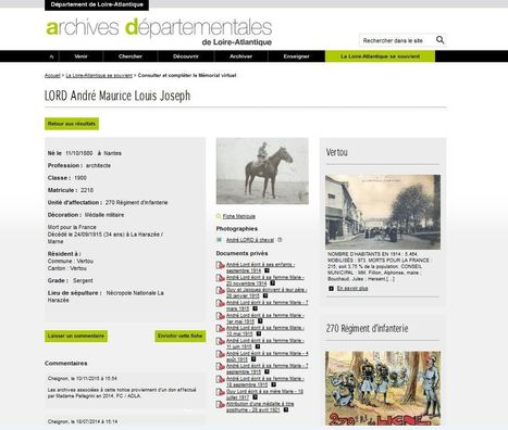 « La Loire-Atlantique se souvient » : tout savoir sur le mémorial virtuel mardi 22 novembre [ADLA] | Histoire 2 guerres | Scoop.it