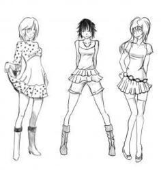How To Sketch Anime Clothes Step By People Draw Japanese Manga FREE Online Drawing Tutorial