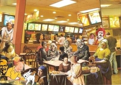 Artwork: Lunch at the Odd-Burger - Open House Art | Art - Crafts - Design | Scoop.it