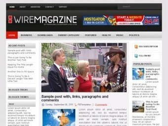 Wire Magazine Blogger Theme Free Download by Harold - HeavenThemes   Blogger themes   Scoop.it