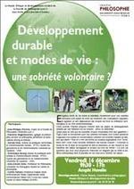 Développement durable et modes de vie : une sobriété volontaire ?   Philosophie en France   Scoop.it