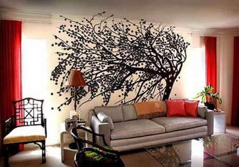 Fotos e ideas para pintar y decorar las paredes - Decoracion interiores paredes ...
