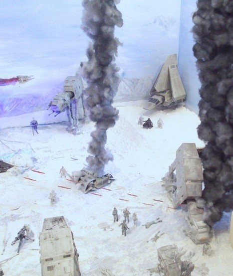 Star Wars Fan Turns Living Room into Large Scale Battle of Hoth Diorama | Strange days indeed... | Scoop.it