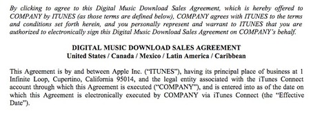 Digital Music News - F*&k It: Here's the Entire iTunes Radio & iTunes Store Contract... | What's happening on the Digital Music Industry | Scoop.it