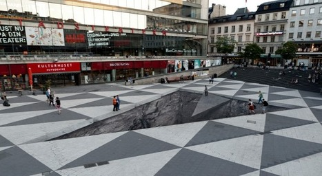 Incredible Street Art: Mind Your Step… | This Little Lady... | Art! | Scoop.it