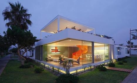 un air d 39 aquarium pour cette maison contemporai. Black Bedroom Furniture Sets. Home Design Ideas