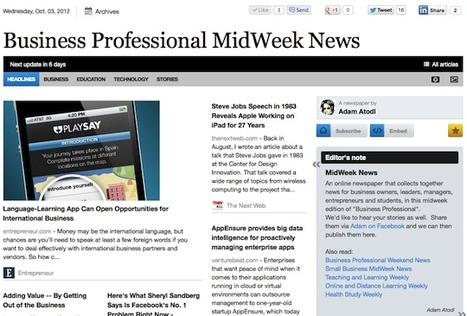 Oct 3 - Business Professional MidWeek News | Transformations in Business & Tourism | Scoop.it