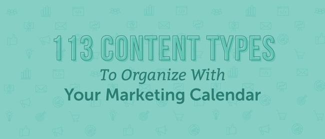 113 Types of Content to Organize On A Marketing Calendar - CoSchedule | Redacción de contenidos, artículos seleccionados por Eva Sanagustin | Scoop.it