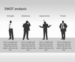 SWOT PowerPoint Template with Human Silhouette   Complex Management   Scoop.it