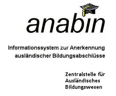 DE) – Anabin: Anerkennung und Bewertung ausländischer