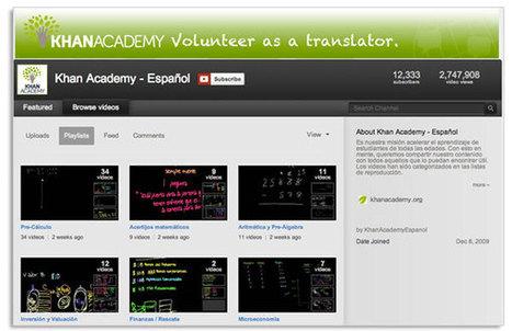Cursos de Khan Academy traducidos al español | Educación 2.0 | Scoop.it