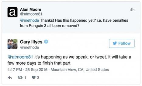 Google: Penguin Recouvrements de Rolling Out Now au cours des prochains jours | Veille SEO - Référencement web - Sémantique | Scoop.it