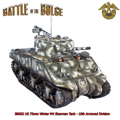 BB002 US 75mm Winter M4 Sherman Tank - 10th Armored Division | Military Miniatures H.Q. | Scoop.it