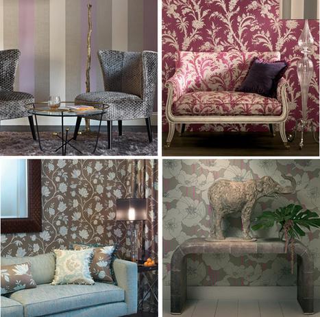 39 papier peint de luxe 39 in tissu d 39 ameublement art textile et papier peint de luxe. Black Bedroom Furniture Sets. Home Design Ideas