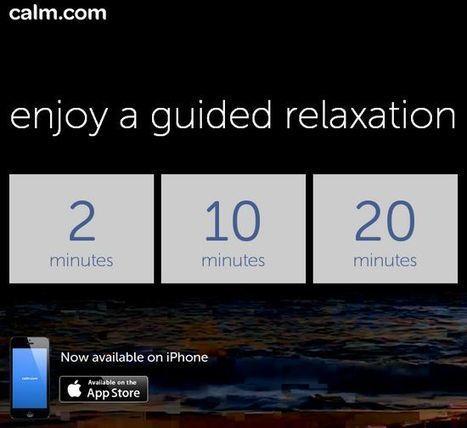 Calm, aplicación web y móvil que nos ayuda a relajar y a reducir el estrés   apps educativas android   Scoop.it