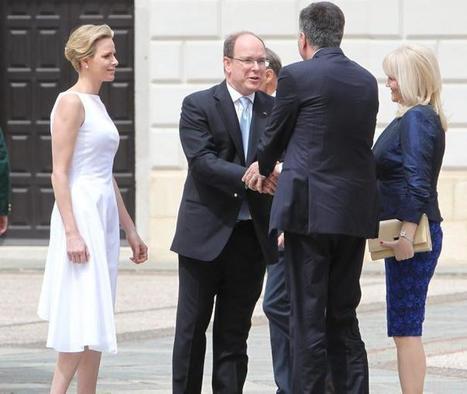 Mur-de-Barrez. Le prince Albert de Monaco et Charlène en visite
