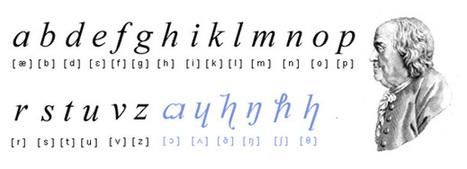 Benjamin Franklin's Phonetic Alphabet   ciberpocket   Scoop.it